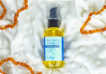 natural organic unscented baby bath massage oil
