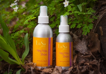 Hey You. Shoo. , natural insect repellent essential oil blend, lemon eucalyptus and cedar